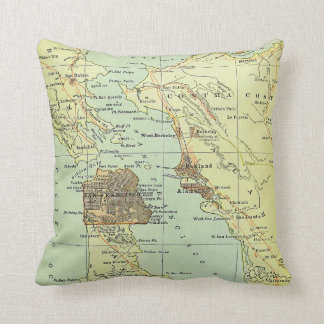 Vintage Map of San Francisco California (1905) Throw Pillow