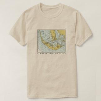 Vintage map of Sanibel Captiva Island Florida T-Shirt