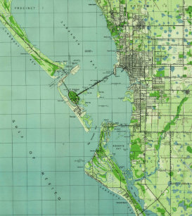 Sarasota Florida Map.Sarasota Fl Map Posters Photo Prints Zazzle