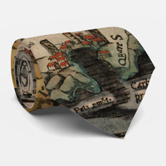 Vintage Map of Sardinia Italy (16th Century) Neck Tie