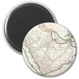 Vintage Map of Saudi Arabia (1771) 2 Inch Round Magnet