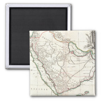Vintage Map of Saudi Arabia (1771) 2 Inch Square Magnet