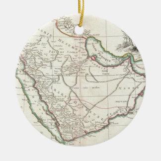 Vintage Map of Saudi Arabia (1771) Ceramic Ornament