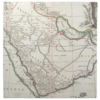 Vintage Map of Saudi Arabia (1771) Cloth Napkin