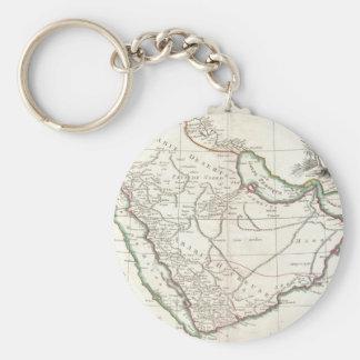 Vintage Map of Saudi Arabia (1771) Keychain