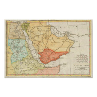 Vintage Map of Saudi Arabia (1780) Poster