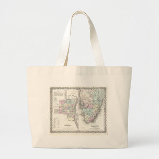 Vintage Map of Savannah and Charleston (1855) Tote Bag