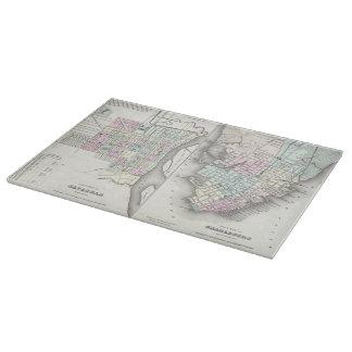 Vintage Map of Savannah and Charleston (1855) Cutting Board