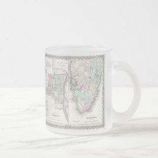 Vintage Map of Savannah and Charleston (1855) Mugs