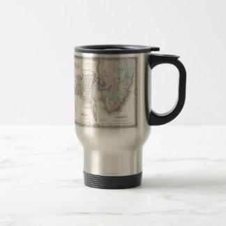 Vintage Map of Savannah and Charleston (1855) Coffee Mug