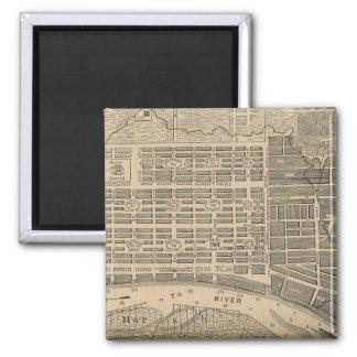 Vintage Map of Savannah Georgia (1818) 2 Inch Square Magnet