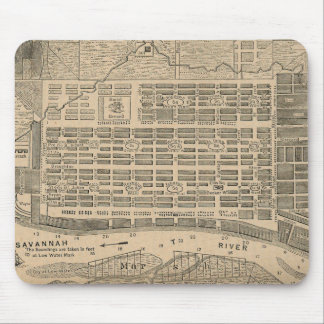 Vintage Map of Savannah Georgia (1818) Mouse Pad