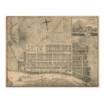 Vintage Map of Savannah Georgia (1818) Post Card