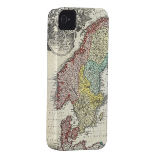 Vintage Map of Scandinavia (1730) iPhone 4 Case