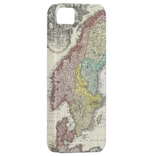 Vintage Map of Scandinavia (1730) iPhone 5 Case