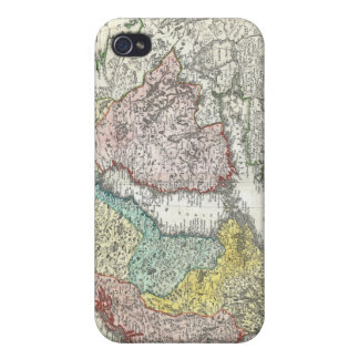 Vintage Map of Scandinavia (1730) Covers For iPhone 4
