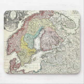 Vintage Map of Scandinavia (1730) Mouse Pad
