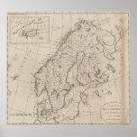Vintage Map of Scandinavia (1800) Poster