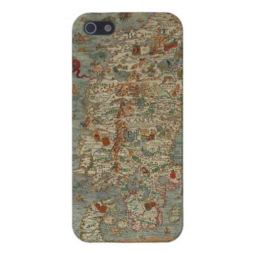 Vintage Map of Scandinavia iPhone 5/5S Case