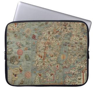 Vintage Map of Scandinavia Laptop Sleeve