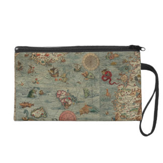 Vintage Map of Scandinavia Wristlet Purse