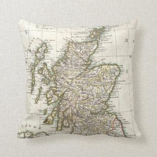Vintage Map of Scotland (1772) Throw Pillow