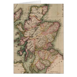 Vintage Map of Scotland (1814) Card