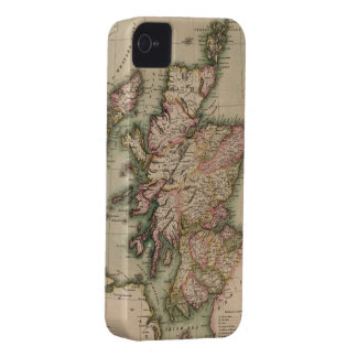 Vintage Map of Scotland (1814) iPhone 4 Cases