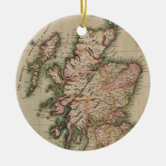 Vintage Map of Scotland (1814) Ceramic Ornament