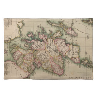 Vintage Map of Scotland (1814) Cloth Placemat