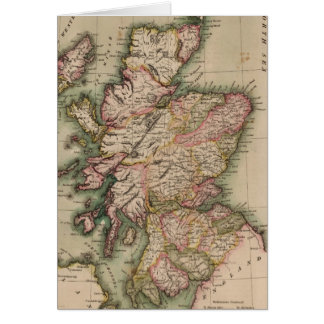 Vintage Map of Scotland (1814) Greeting Card
