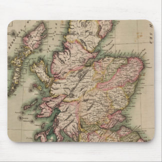 Vintage Map of Scotland (1814) Mouse Pad
