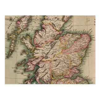 Vintage Map of Scotland (1814) Postcard