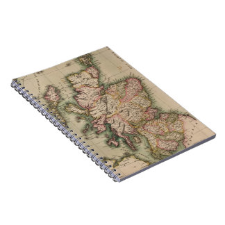 Vintage Map of Scotland (1814) Spiral Notebook