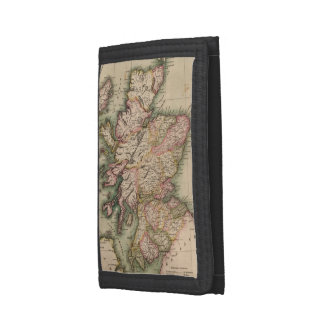Vintage Map of Scotland (1814) Tri-fold Wallet
