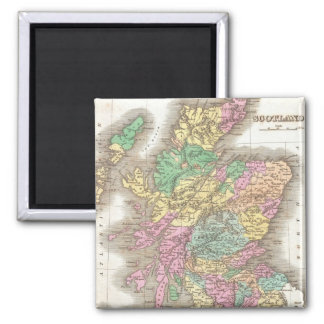 Vintage Map of Scotland (1827) 2 Inch Square Magnet