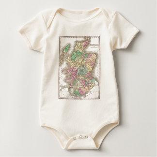 Vintage Map of Scotland (1827) Baby Bodysuit