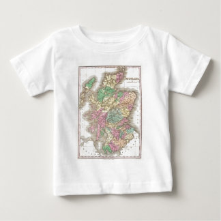 Vintage Map of Scotland (1827) Baby T-Shirt