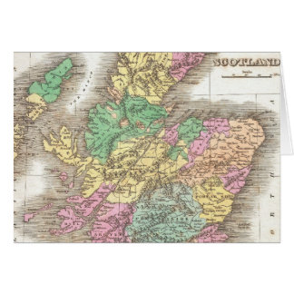 Vintage Map of Scotland (1827) Card