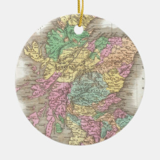 Vintage Map of Scotland (1827) Ceramic Ornament
