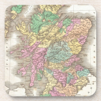 Vintage Map of Scotland (1827) Coaster