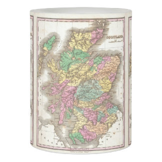 Vintage Map of Scotland (1827) Flameless Candle
