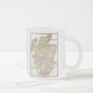 Vintage Map of Scotland (1827) Frosted Glass Coffee Mug