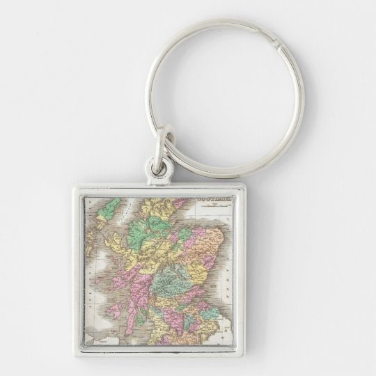 Vintage Map of Scotland (1827) Keychain