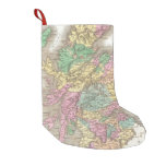 Vintage Map of Scotland (1827) Small Christmas Stocking