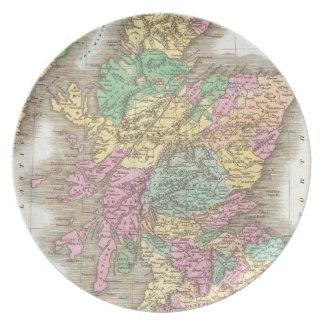 Vintage Map of Scotland (1827) Melamine Plate