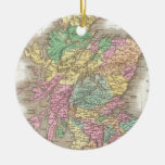 Vintage Map of Scotland (1827) Christmas Tree Ornaments