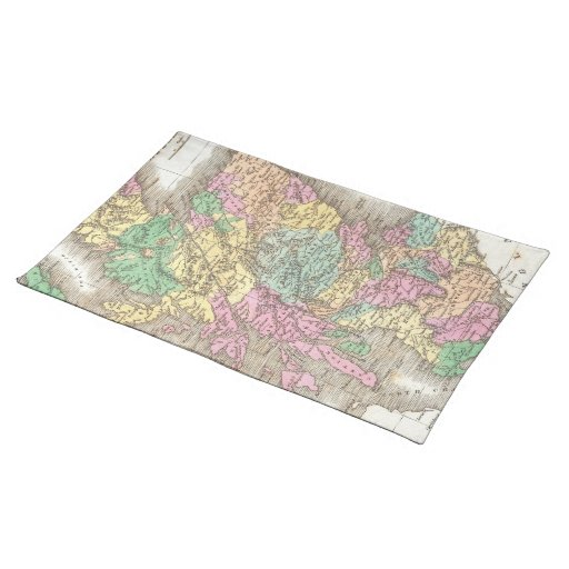 Vintage Map of Scotland (1827) Placemat