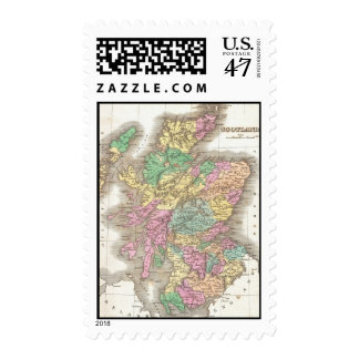 Vintage Map of Scotland (1827) Postage