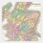 Vintage Map of Scotland (1827) Sticker